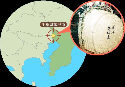 矢切地区の地図