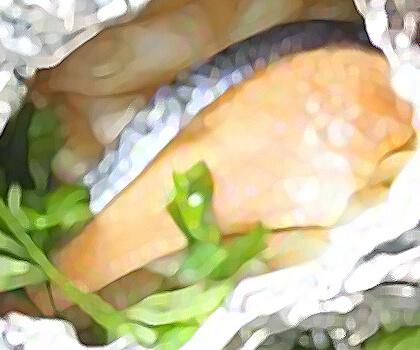 矢切ねぎと紅鮭のホイル焼き